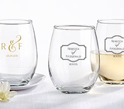 Personalized 9 oz. Stemless Wine Glass – Classic