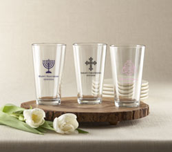 Personalized Pint Glass 16 oz. (Religious Designs)