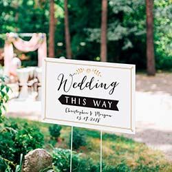 Personalized Directional Sign (18x12) - Wedding